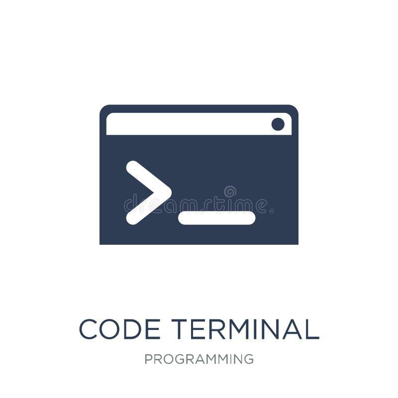 Code eindpictogram In vlak vectorcode eindpictogram op whi stock illustratie