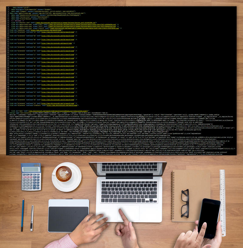 Code focus on programming code Coding Php Html Coding Cyberspac stock photos
