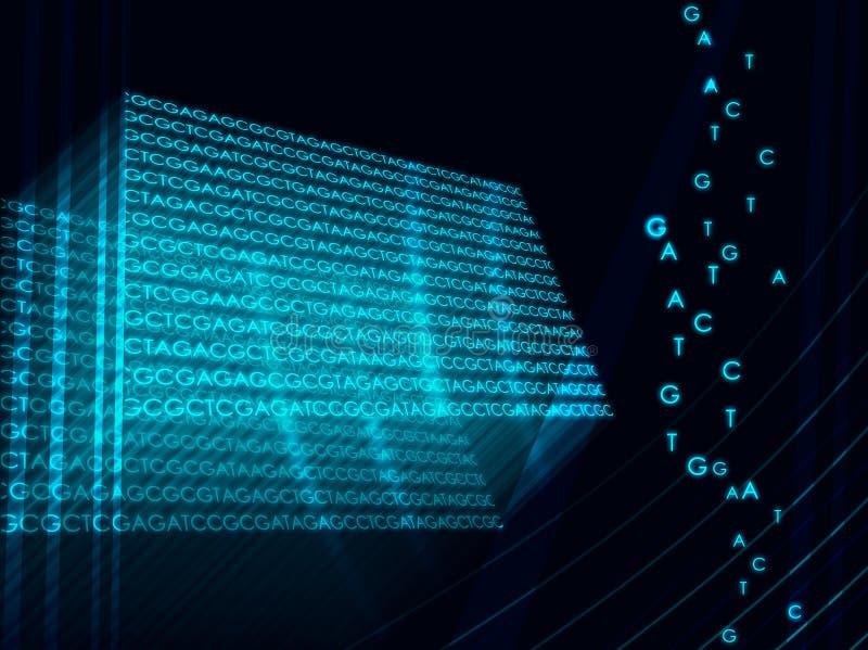Code génétique illustration libre de droits