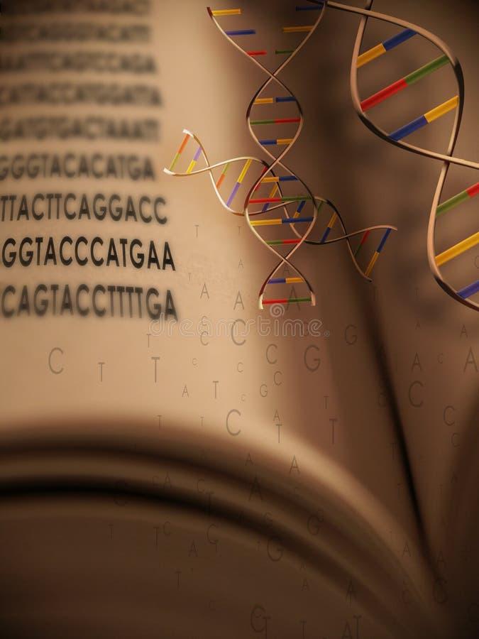 Code génétique et ADN le livre du flotteur de code illustration de vecteur