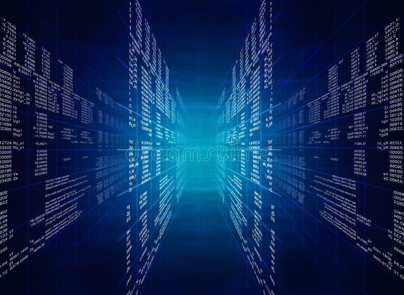 Code informatique bleu binaire illustration de vecteur