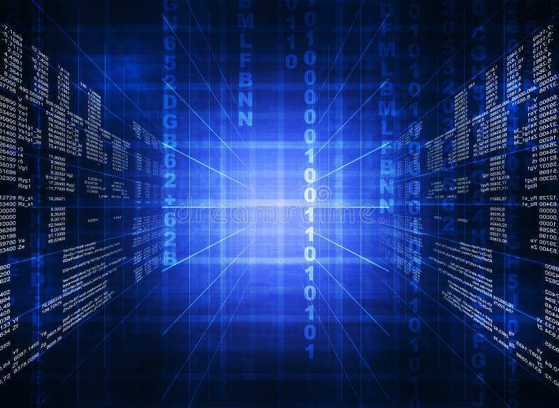 Code informatique bleu binaire illustration stock