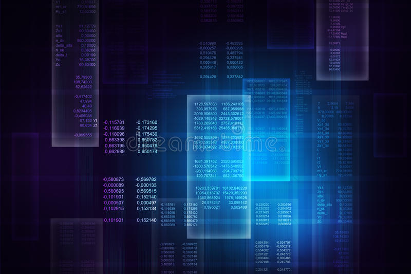 Code informatique bleu binaire illustration libre de droits