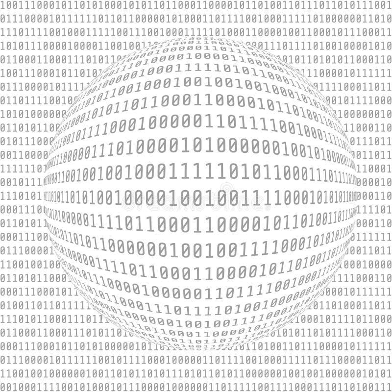 Code machine binaire Données numériques Fond abstrait de matrice Concept de pirate informatique Illustration de vecteur illustration de vecteur