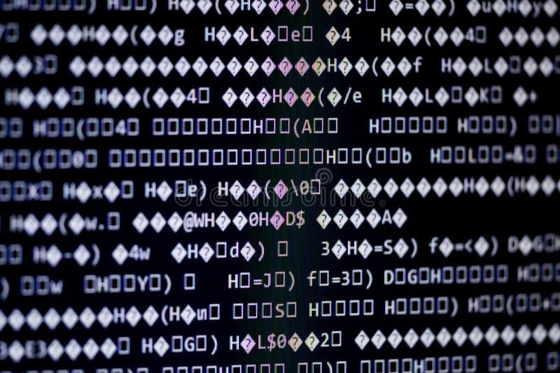 Code machine fait au hasard photographie stock