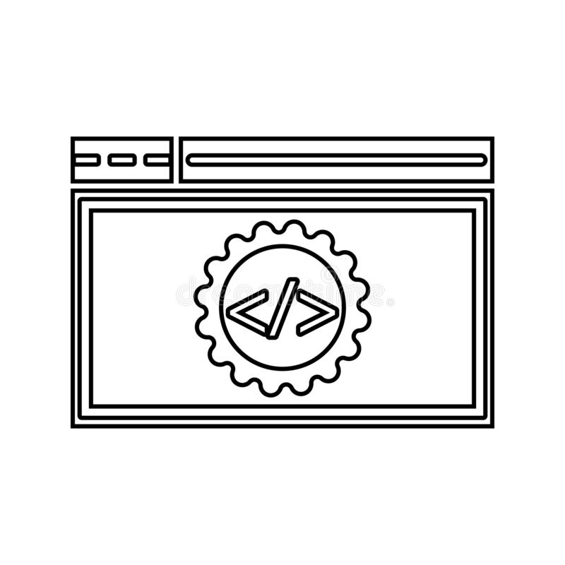 Code optimization icon. Element of cyber security for mobile concept and web apps icon. Thin line icon for website design and. Development, app development on royalty free illustration