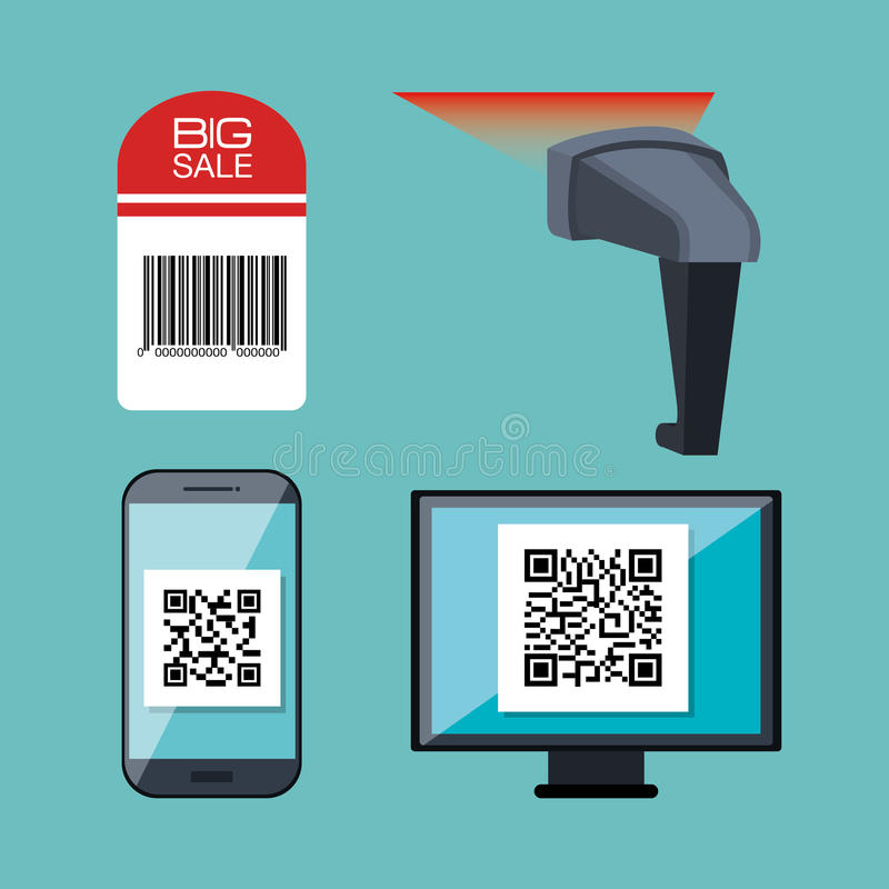 Code qr design. Illustration eps10 graphic vector illustration