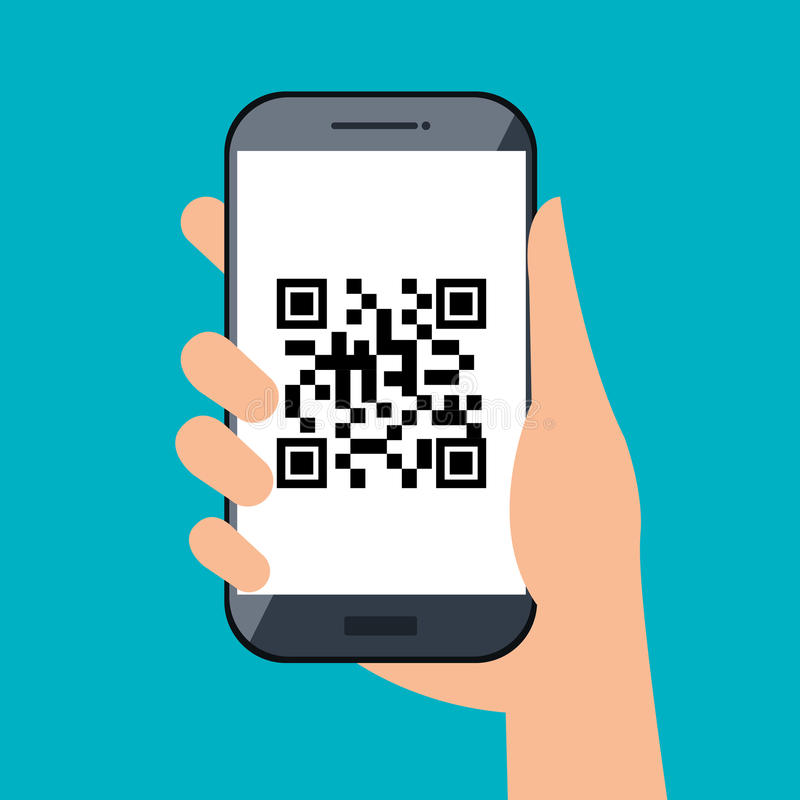 Code qr design. Illustration eps10 graphic royalty free illustration