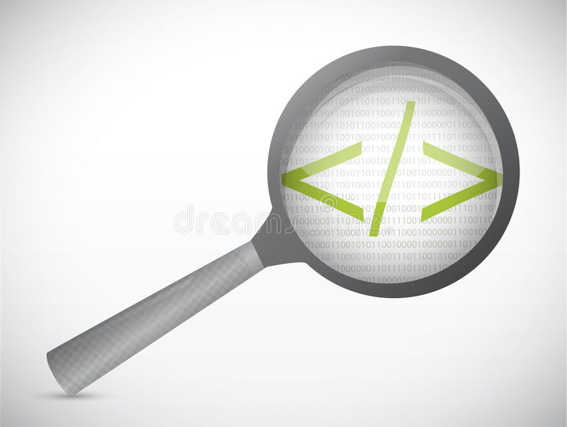 Code sous la conception d'illustration de concept d'examen illustration stock