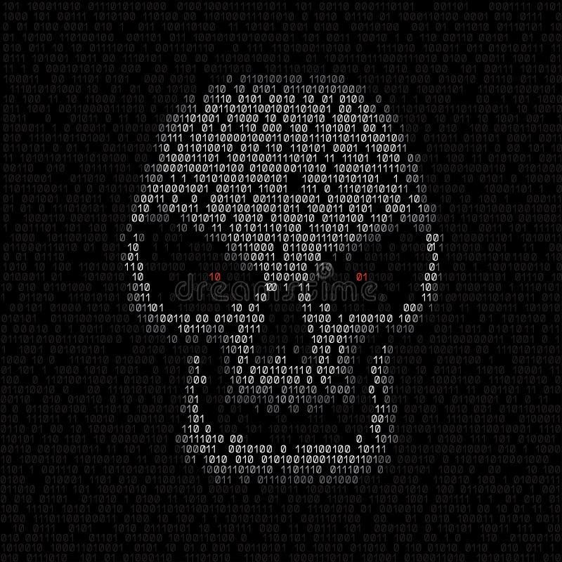 Code texture skull stock illustration
