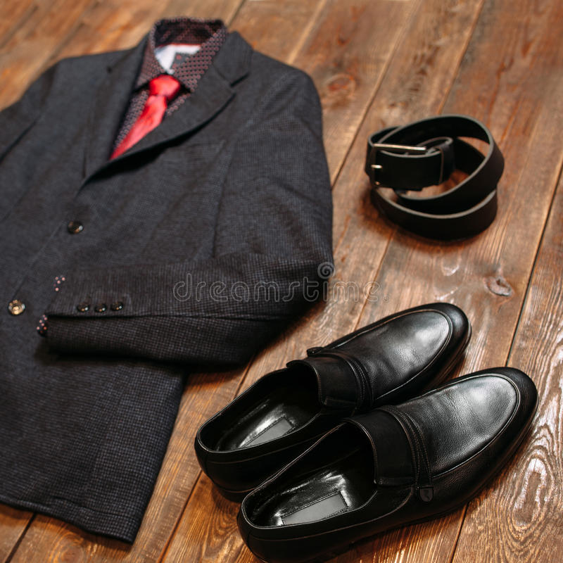 Code vestimentaire pour un chef menswear image stock