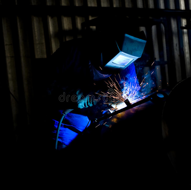 Download Coded Welder in Blue stock photo. Image of craftsman - 17915578