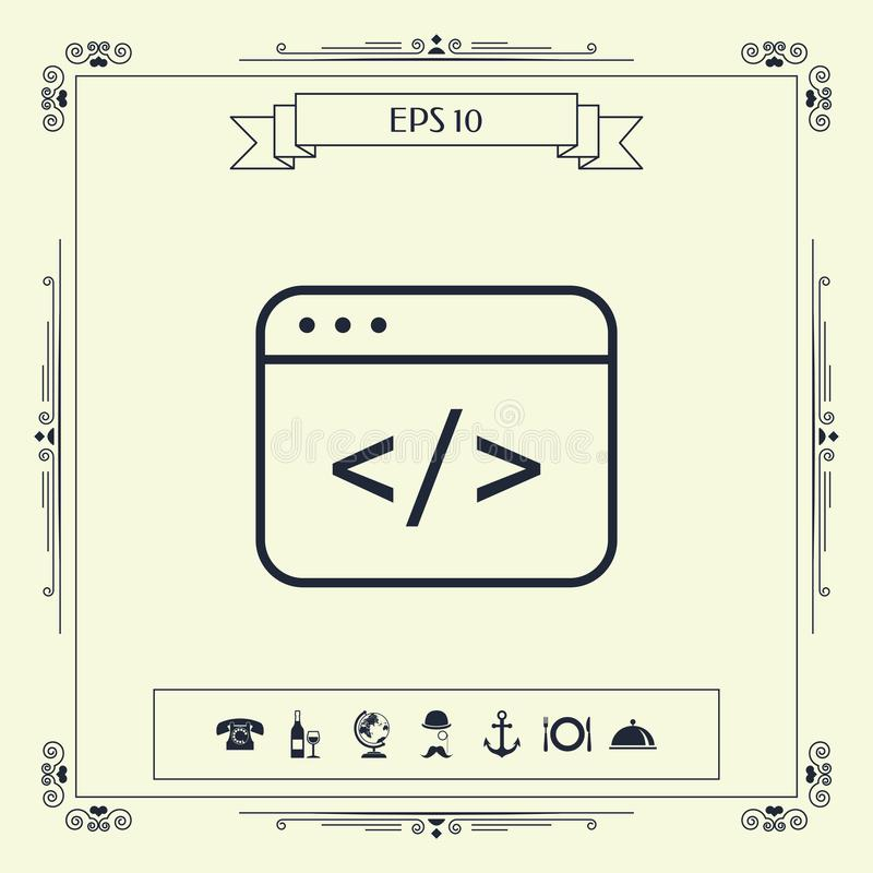 Coderedacteur Icon stock illustratie