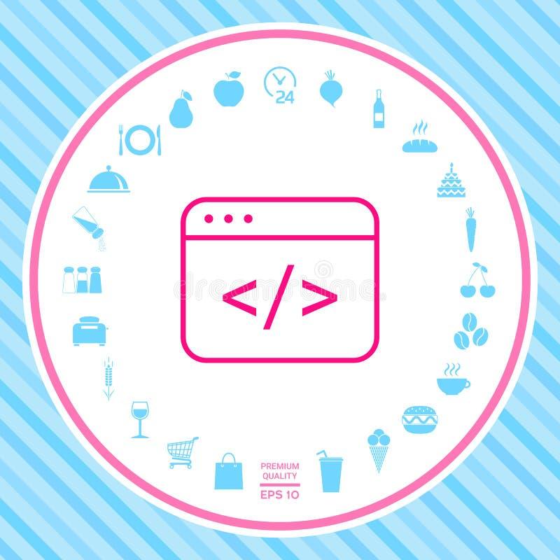 Coderedacteur Icon royalty-vrije illustratie