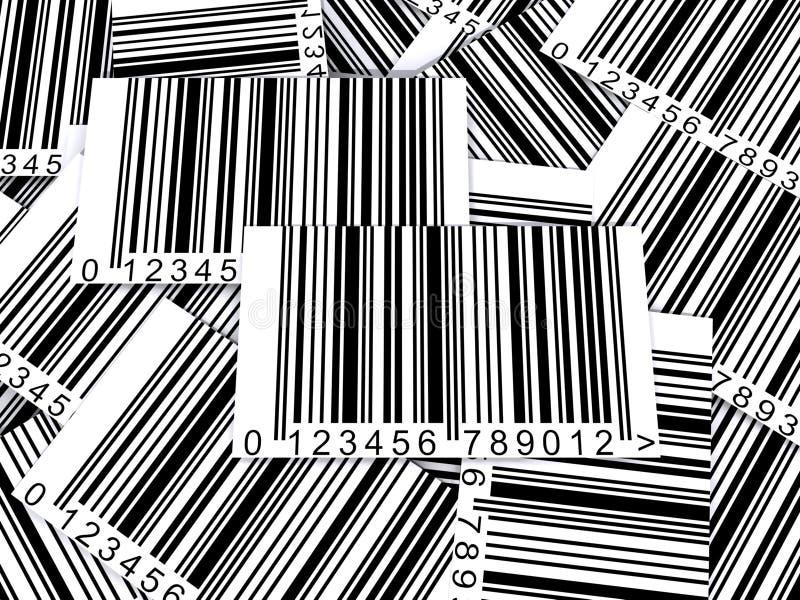 Codes à barres assortis illustration de vecteur
