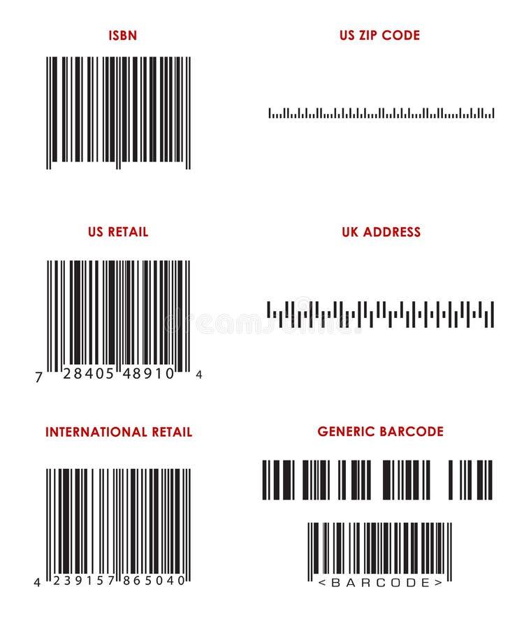 Codes à barres (divers) illustration libre de droits
