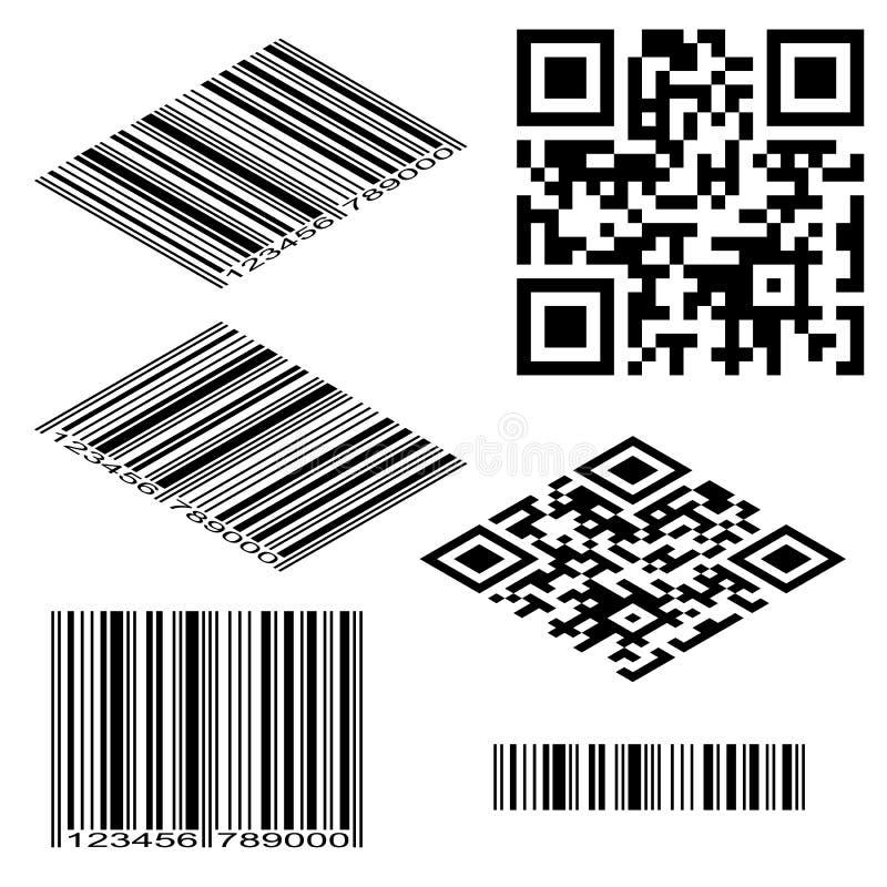 Codes barres illustration stock