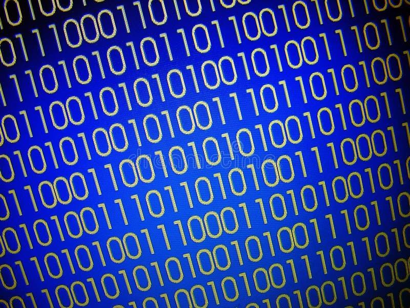Codes binaires illustration de vecteur