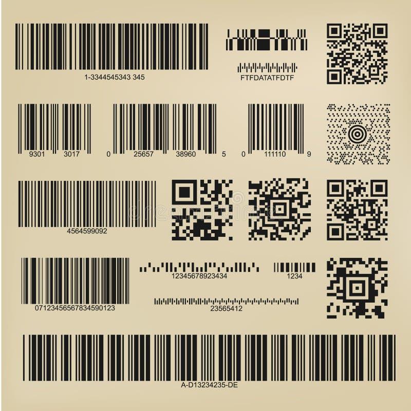 Codes et codes barres de Qr illustration stock