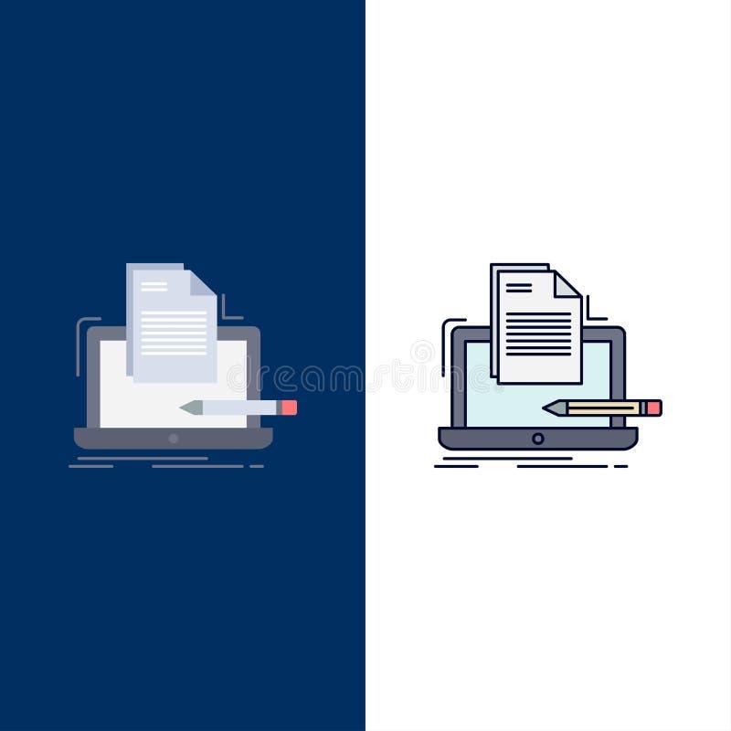 Codeur, codage, computer, lijst, document de Vlakke Vector van het Kleurenpictogram stock illustratie