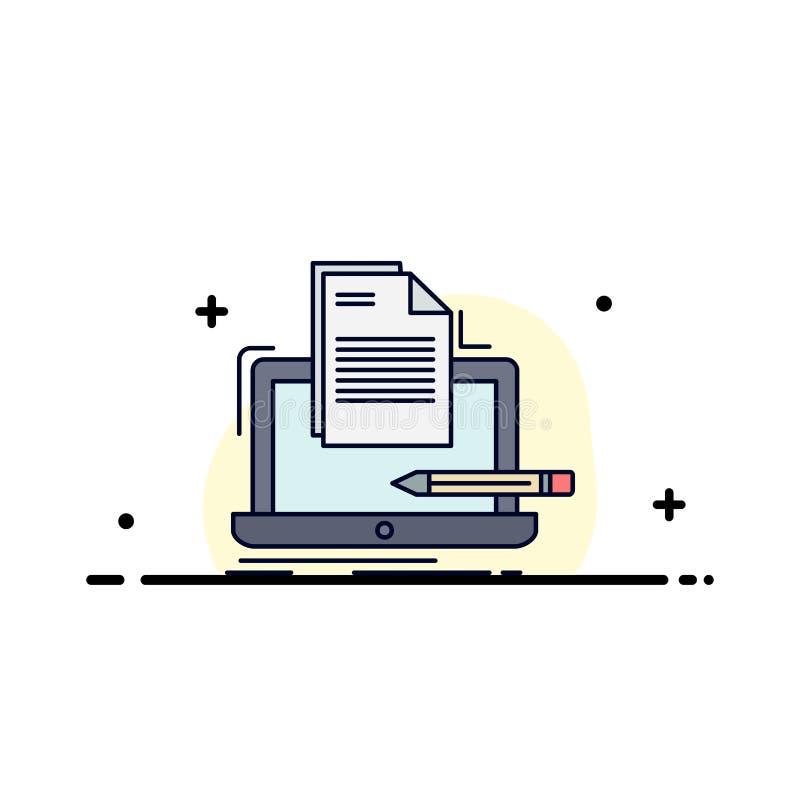 Codeur, codage, computer, lijst, document de Vlakke Vector van het Kleurenpictogram royalty-vrije illustratie