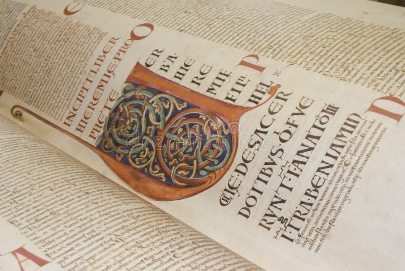 Codex gigas also called Devil's bible stock photos