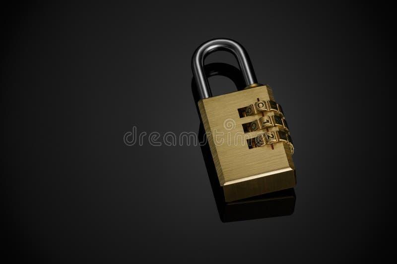 codez le cadenas photographie stock libre de droits