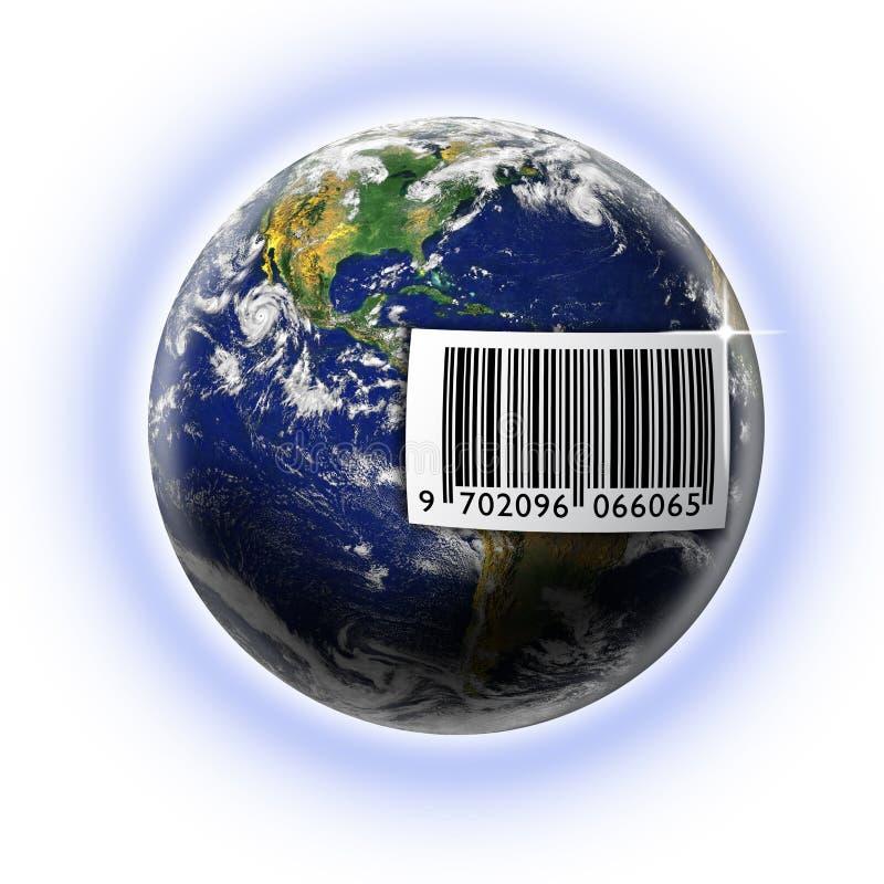 Codice a barre del mondo royalty illustrazione gratis