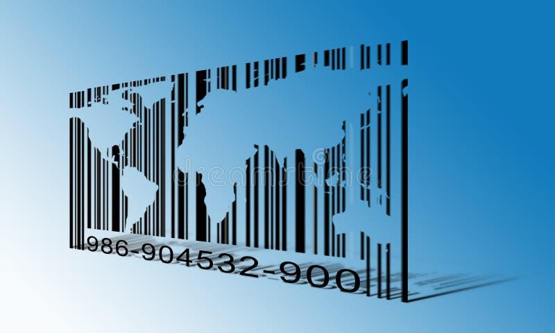 Codice a barre del mondo illustrazione di stock