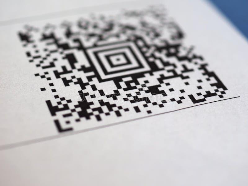 Codice a barre di codice di QR immagine stock