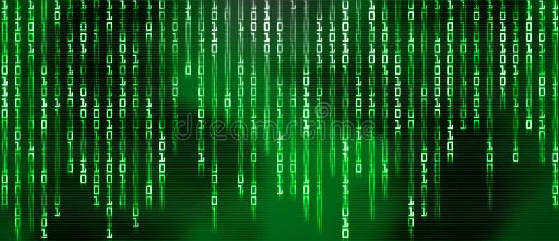 Codice binario, vapore di dati royalty illustrazione gratis