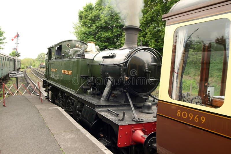 Codice categoria piccolo Prairi del treno GWR 4500 della locomotiva di vapore fotografia stock libera da diritti