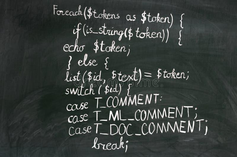 Codice del PHP fotografia stock