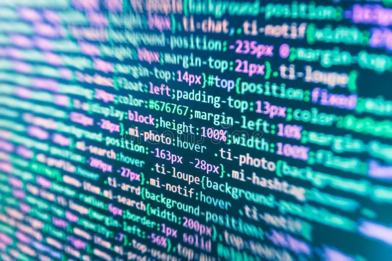 Codice di Javascript in editor di testo Concetto del Cyberspace di codifica illustrazione di stock