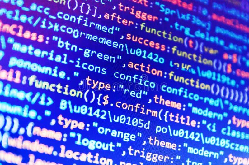 Codice di programmazione dello sviluppatore del pitone fotografie stock libere da diritti