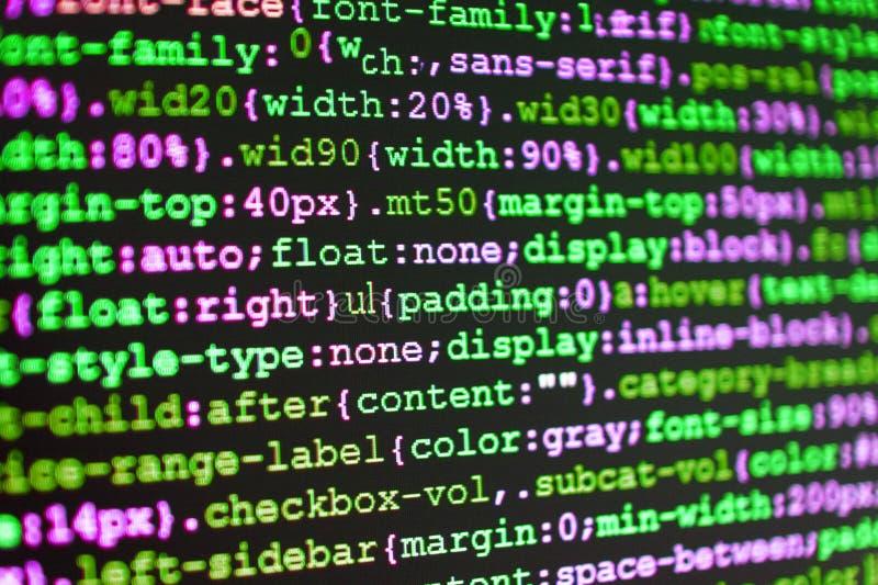 Codice di programmazione dello sviluppatore del pitone Sviluppo di software di WWW fotografia stock