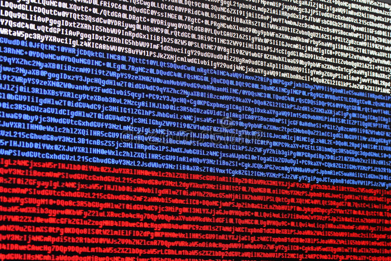 Codice macchina consistente della bandiera russa fotografia stock libera da diritti