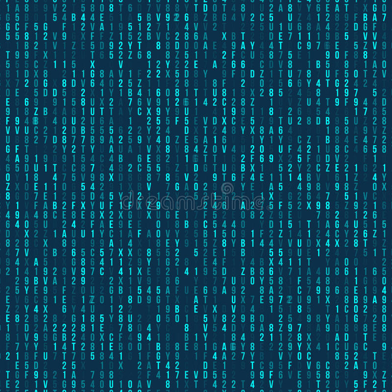 Codice macchina esadecimale verde Priorità bassa astratta della tabella Attacco del riprogrammatore Concetto generato di codice m royalty illustrazione gratis