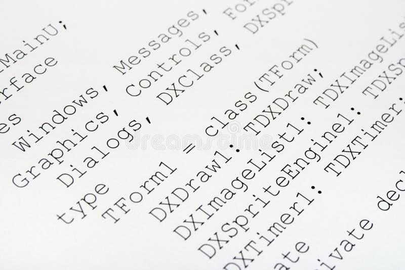 Codice macchina stampato fotografia stock
