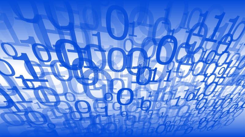 Codice macchina zero un fondo di tecnologia dell'estratto di vettore delle cifre royalty illustrazione gratis
