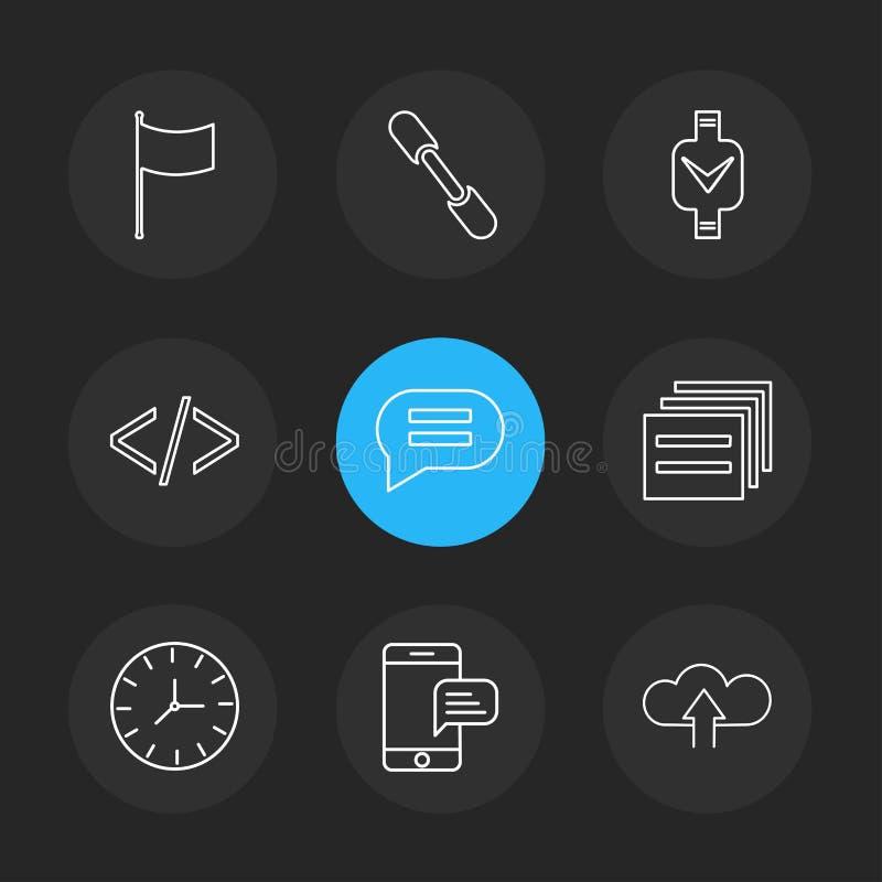 codice, messaggio, orologio, seo, tecnologia, Internet, bandiere, c illustrazione vettoriale