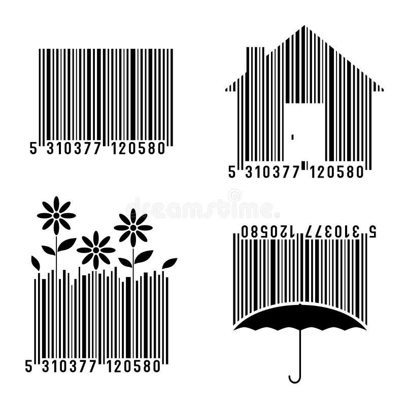 Codici a barre concettuali fissati royalty illustrazione gratis