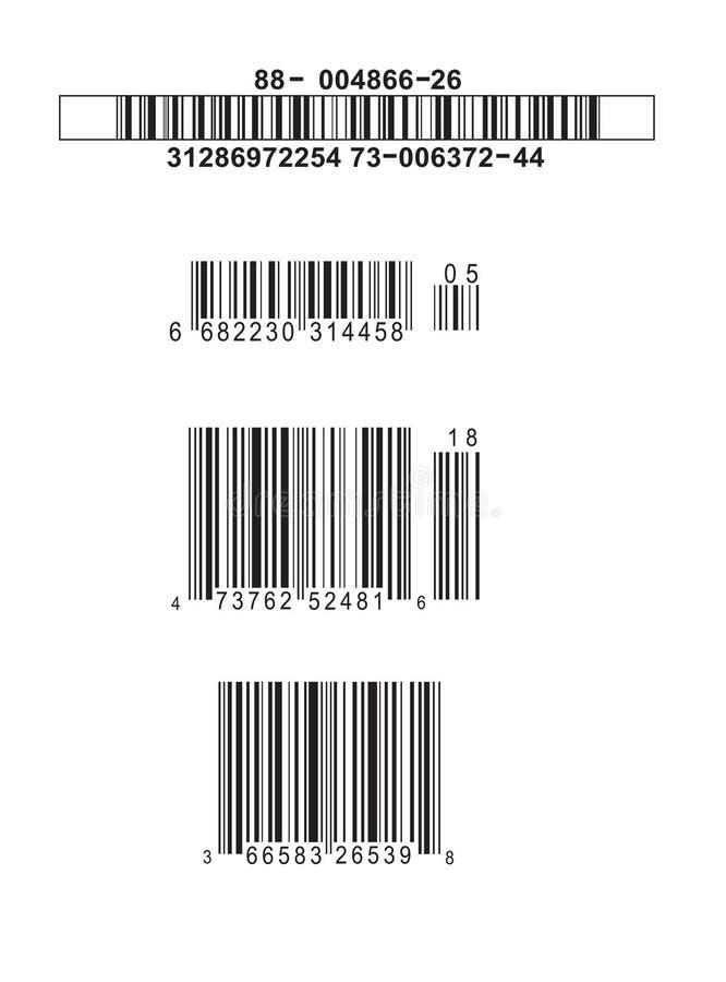 Codici a barre falsi illustrazione di stock
