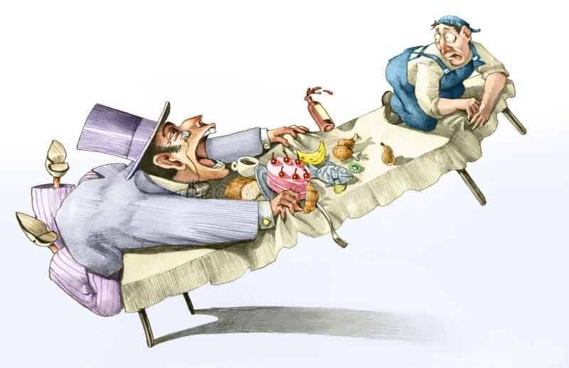 Codicioso voraz capitalista de trabajadores libre illustration