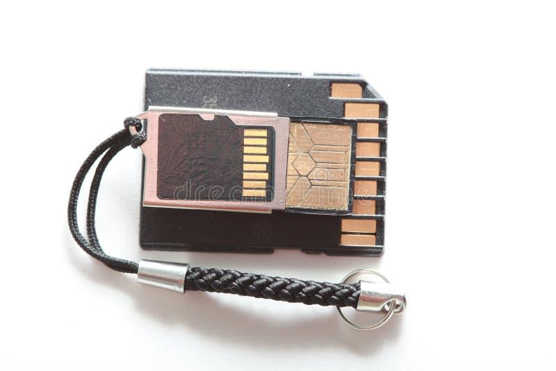 Codierte Karten und Adapter stockbilder