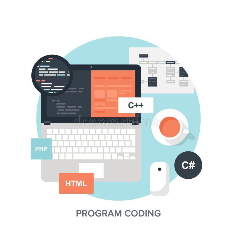Codificação do programa ilustração stock