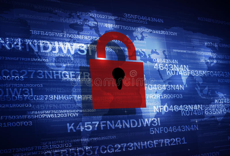 Codifica della serratura di sicurezza immagine stock