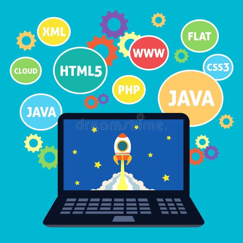 Codifica di web design illustrazione vettoriale
