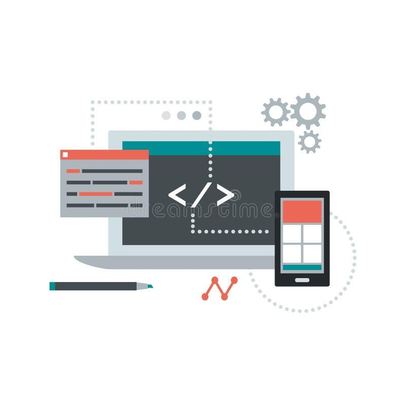Codificación del ADN del desarrollo web libre illustration