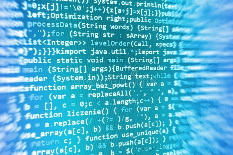 Codificando a tela de programação do código fonte ilustração stock